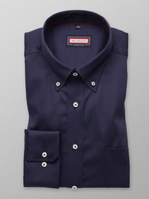 Granatowa klasyczna koszula stretch