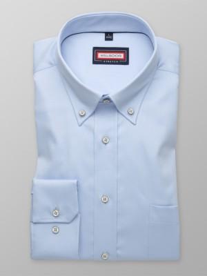 Błękitna klasyczna koszula stretch