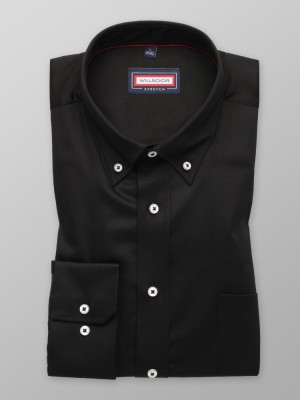 Czarna klasyczna koszula stretch