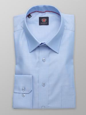Niebieska klasyczna koszula w jodełkę
