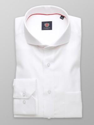 Biała klasyczna koszula z szerokim kołnierzykiem