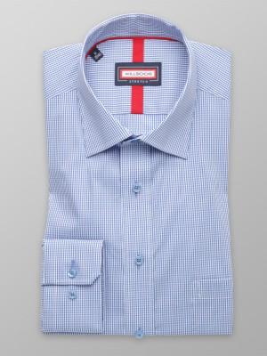 Niebieska klasyczna koszula w kratkę gingham