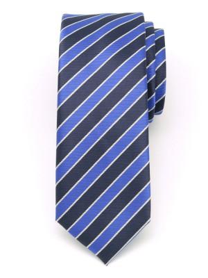 Wąski krawat klubowy w pasy