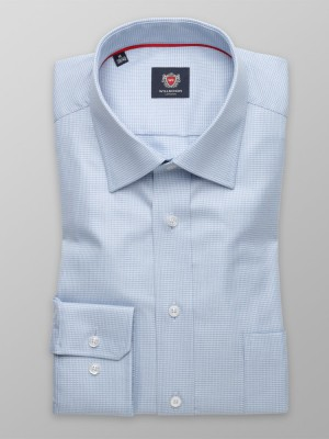 Klasyczna błękitna koszula w pepitkę