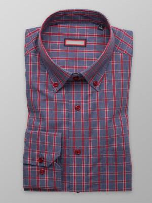 Szara klasyczna koszula w kratę
