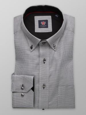 Szara klasyczna koszula w pepitkę