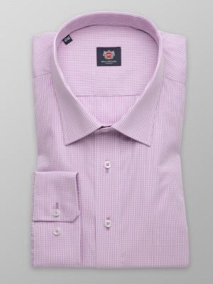Klasyczna jasnowrzosowa koszula w kratkę