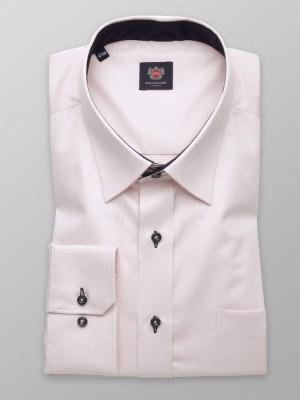 Klasyczna różowa koszula z kontrastami