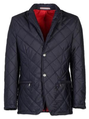 Granatowa kurtka pikowana o kroju marynarki