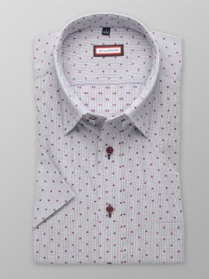 Taliowana koszula w kratkę i kropki