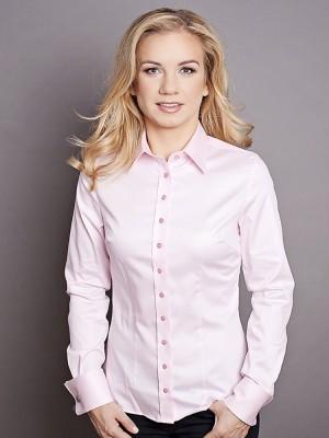 Klasyczna różowa bluzka na spinki