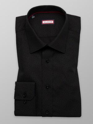 Czarna klasyczna koszula w jasne łezki