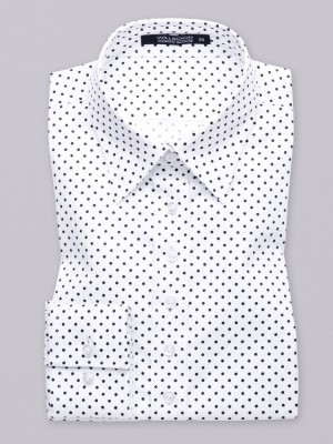 Biała bluzka w czarne kropki