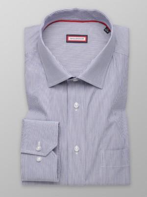 Klasyczna niebieska koszula w prążek