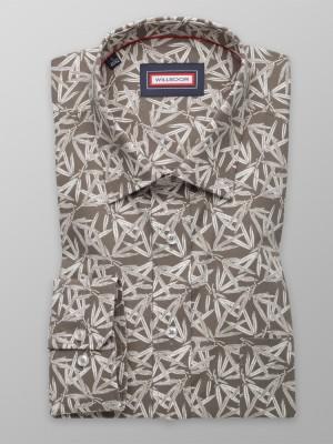 Klasyczna brązowa koszula w liście