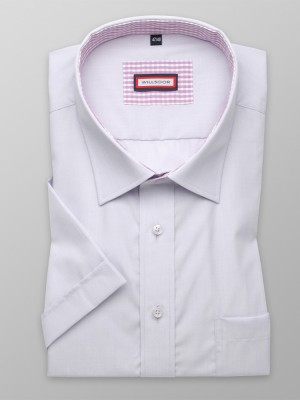 Jasnobłękitna klasyczna koszula z kontrastami