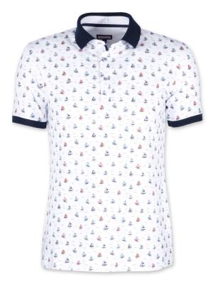 Koszulka Polo w kolorowe żaglówki