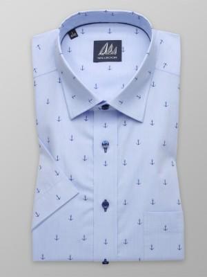 Klasyczna błękitna koszula w kotwice