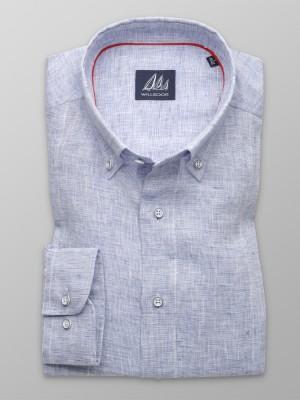 Klasyczna błękitna koszula z lnu
