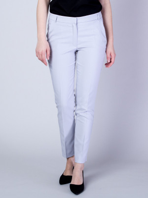 Jasnoszare spodnie garniturowe