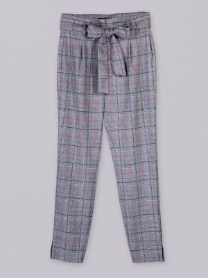Spodnie wiązane w kratę