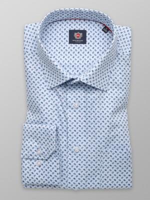 Klasyczna błękitna koszula w łezki paisley