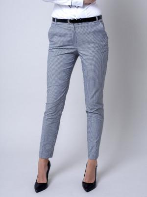 Spodnie garniturowe w drobną kratkę