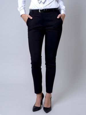 Czarne klasyczne spodnie garniturowe