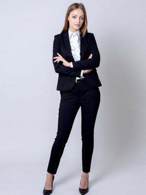 Czarny garnitur damski typu long size