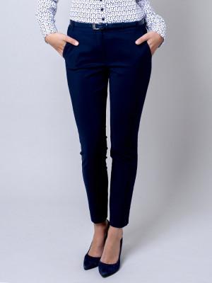 Granatowe klasyczne spodnie garniturowe