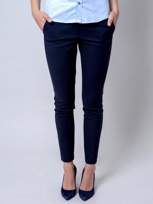 Ciemnogranatowe klasyczne spodnie garniturowe