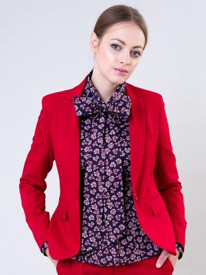 Czerwona marynarka damska