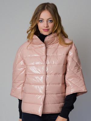 Krótka różowa kurtka pikowana