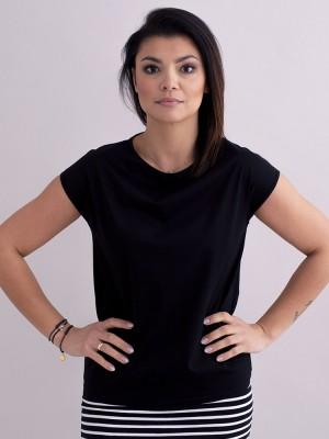 Czarna koszulka z krótkim rękawem