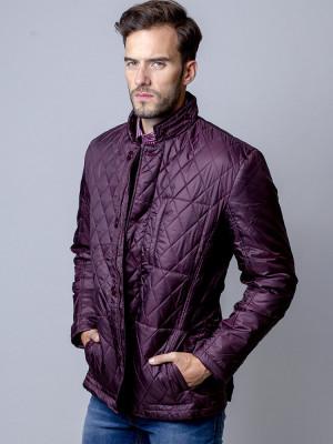 Bordowa kurtka pikowana