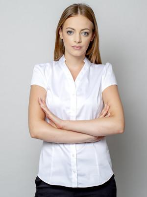 Biała bluzka damska głębokim dekoltem
