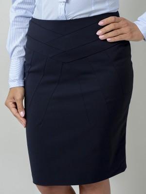 Ciemnogranatowa spódnica ołówkowa