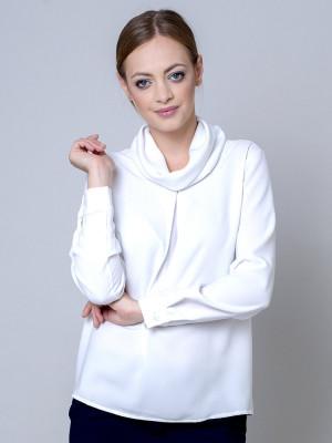 Biała bluzka oversize typu woda