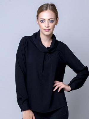 Czarna bluzka oversize typu woda