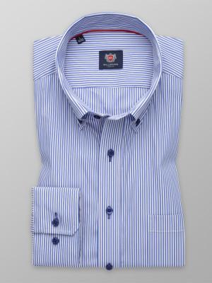 Taliowana koszula w niebieskie i białe paski