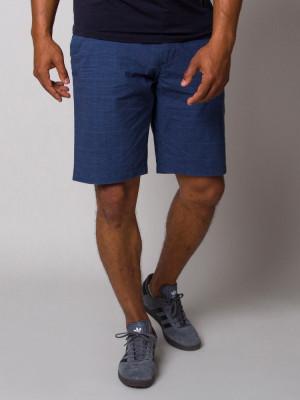 Granatowe szorty męskie w kratkę