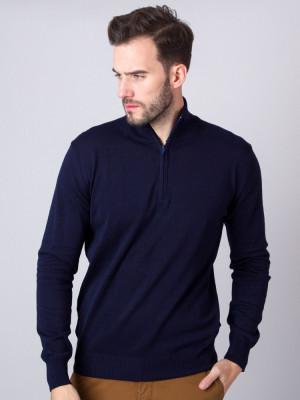 Granatowy sweter rozpinany