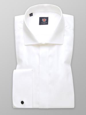Taliowana koszula na spinki w kolorze śmietankowym