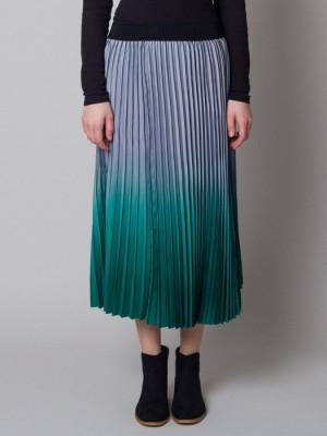 Długa spódnica plisowana ombre