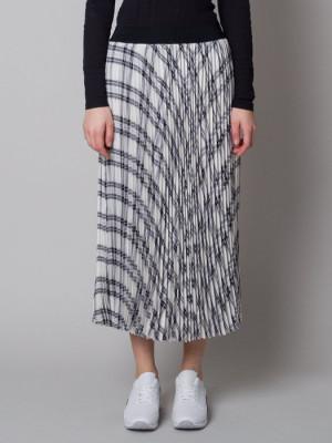Długa spódnica plisowana w kratkę