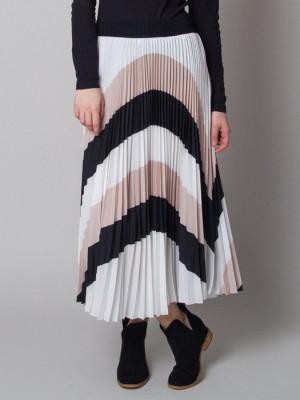 Długa spódnica plisowana w pasy