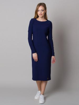 Granatowa sukienka dzianinowa