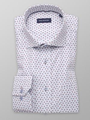 Jasnoszara klasyczna koszula w łezki