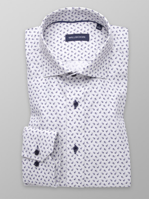 Jasnoszara taliowana koszula w łezki