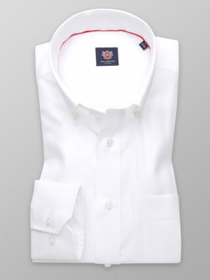 Biała klasyczna koszula z podpinanym kołnierzykiem